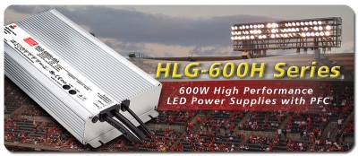 MeanWell HLG-600H Series LED Power Supplies and Drivers